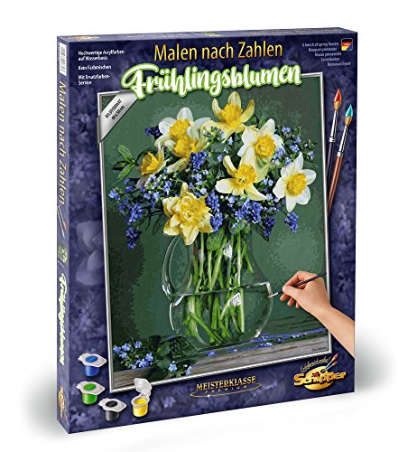 Noris Spiele Paint by Numbers – Schipper 609130789 Spring Flower Bulb Varieties – 40 x 50 cm, Colourful