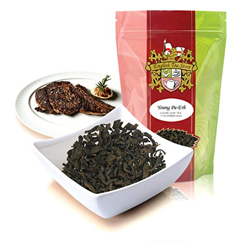 English Tea Store Loose Leaf, Young Pu-Erh Tea, 4 Ounce