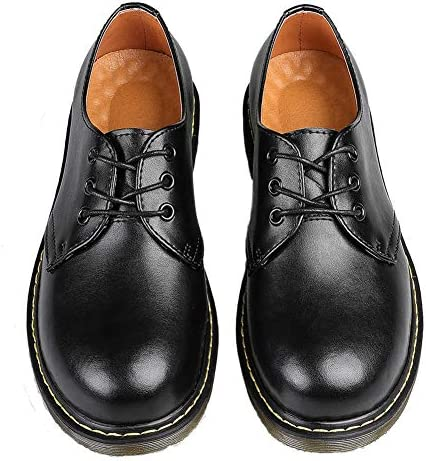 マーチンシューズ 3ホール ポストマンシューズ メンズ レディーズ 3ホールシューズ オックスフォードシューズ 革靴 防水 ユニセックス 黒い 茶色 22.5cm-28.0cm
