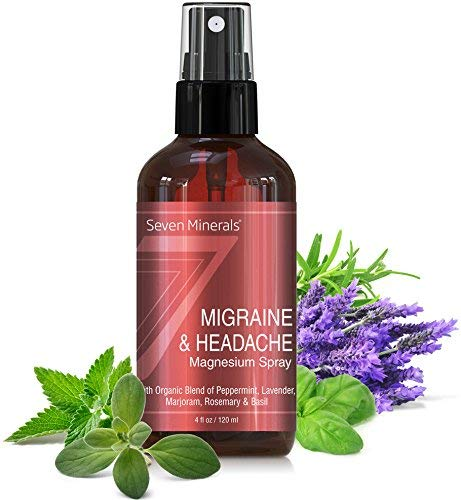 0.5' Disc Color - Migraine & Headache Pain Relief Magnesium Essential Oil Spray | Made in USA - 100% Natural & Organic || FREE Migraine Trigger Tracker Included (New)