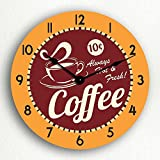 Coffee Hot & Fresh Retro Style 12″ Silent Wall Clock Review