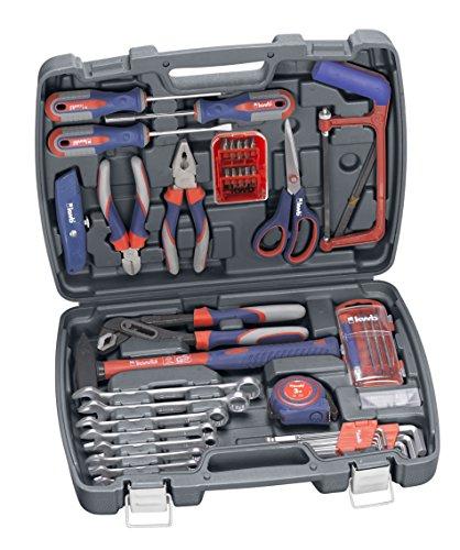 kwb Werkzeugkoffer 370730 (65-teiliger Inhalt, ideal für den ambitionierten Hausgebrauch, im praktischen Kunststoffkoffer)