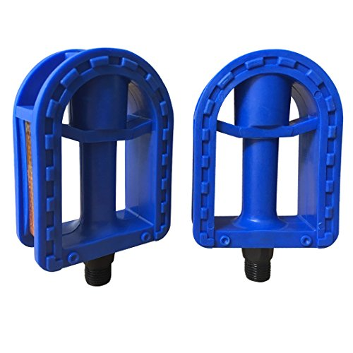 N3od3er Kid's Bike Pedal 1/2-Inch Bike Pedals 1 Pair Kids Spindle Pedals Resin 12'' 14'' (Blue)