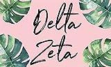 Delta Zeta - Sorority Letter Flag (Tropical Design)