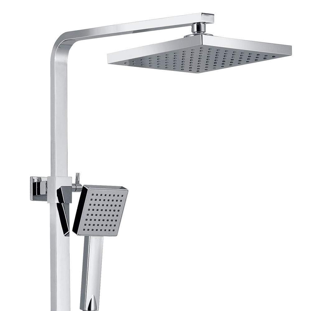 OUKANING 20 cm Set doccia con termostato da 38/°C e soffione a pioggia