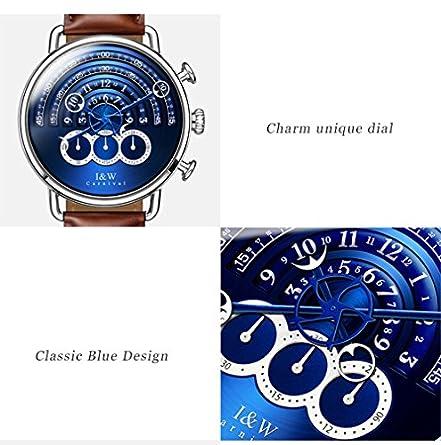 Luxury Men s Big Dial Chronograph Sapphire Glass Waterproof Quartz Black Leather Gold Watches