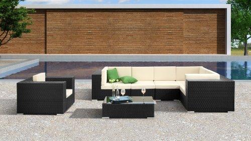 Zuri Furniture Verona Espresso Woven Polypropylene Outdoor Patio Sectional ()