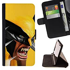 DEVIL CASE - FOR Samsung Galaxy S6 - X Superhero Wolv - Style PU Leather Case Wallet Flip Stand Flap Closure Cover