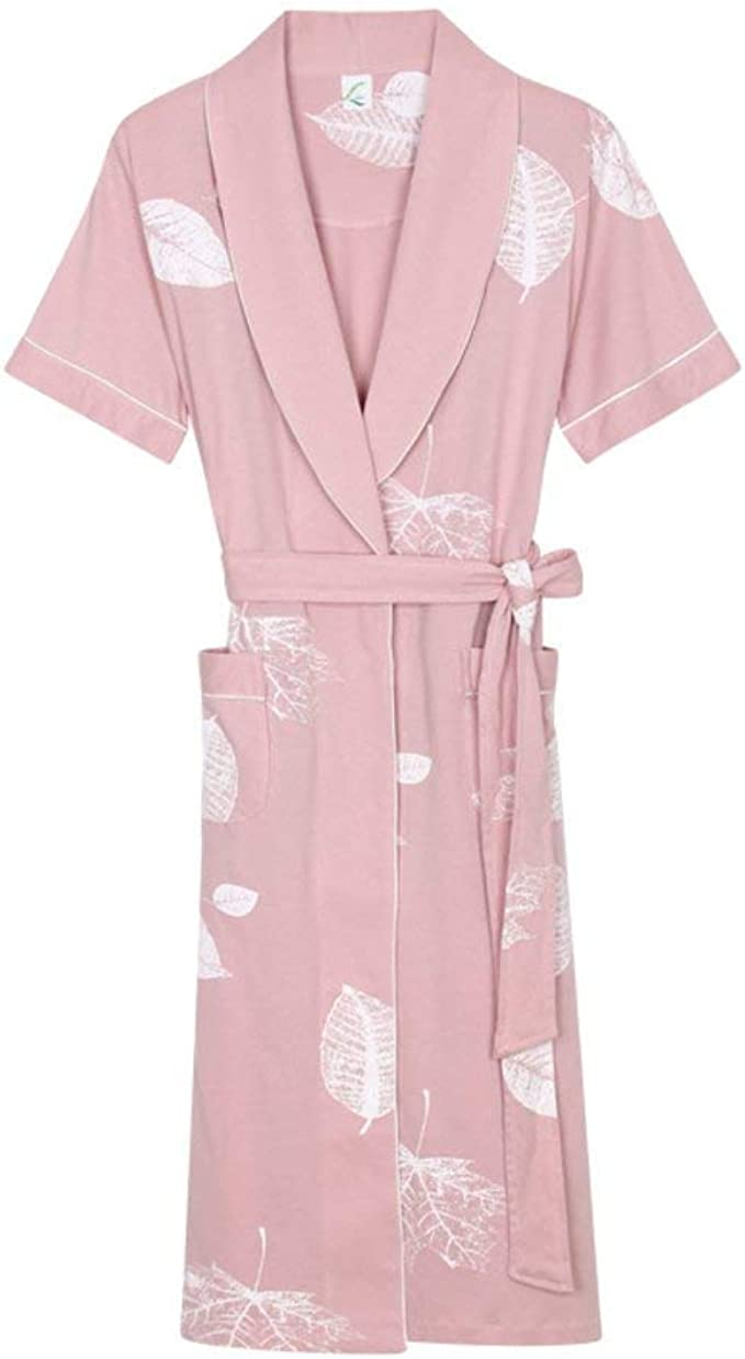 Pijamas De Mujer Bata Algodón De Verano De Bata De Baño Manga ...