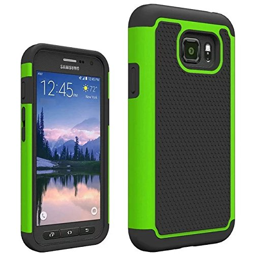 Galaxy S7 Active Case, VPR [Shock Absorption] [Drop Protection] Armor Hybrid Dual Layer Defender Protective Rugged Slim Hard Case For Samsung Galaxy S VII Active AT&T SM-G890 G891 (Green)