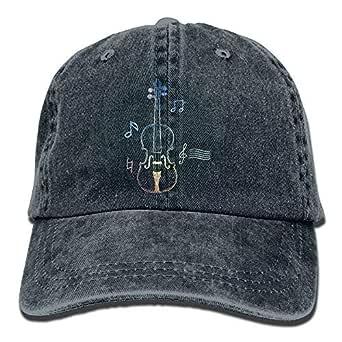 KLING Dibujo de línea de violín Hombres Unisex Cowboy Gorras de ...