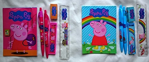 Peppa Pig Stationery set - Total of 12