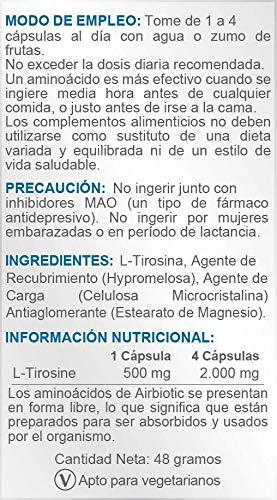 Airbiotic AB - L-Tirosina AB 500 mg - 60 cápsulas ...