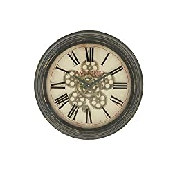 Deco 79 Stylish Vintage Themed Metal Wall Clock