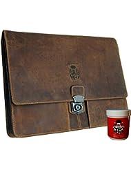 BARON of MALTZAHN Mens briefcase - Portfolio bag SEMMELWEIS 2 brown leather