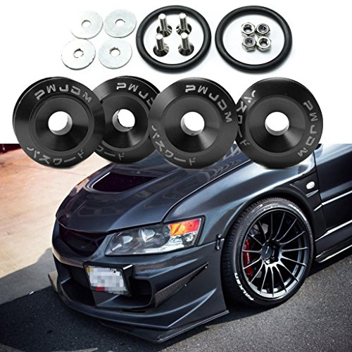 - Xotic Tech 4x JDM Black Car Bumpers Trunk Fender Hatch Lids Quick Release Fasteners