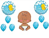 "IT'S A BOY RUBBER DUCKY 24"" CELEBRATE BABY SHOWER Balloons Decorations Supplies Duck"