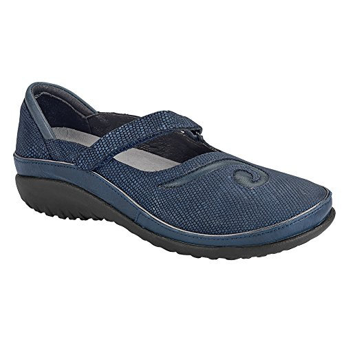 Naot Matai Koru Femme Chaussures Plates Marine Reptile Lthr / Encre En Cuir