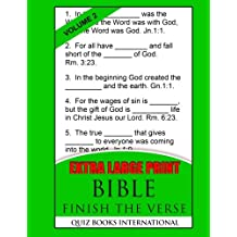 Extra Large Print Bible Finish The Verse Vol. 2: Includes 250 Bible verses