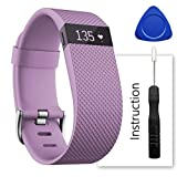 For Fitbit Charge Hr Band - Contains instructions - Perfect Charge Hr Band - Make Your Fitbit Charge Hr New Look (Lavender - Large)