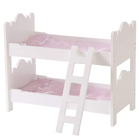 Amazon Com Yfdzone Lovely Doll Bunk Bed Girls Princess Doll Bed 18