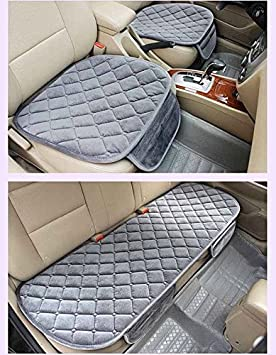 Blue 3PCs YwewY Car Seat Cushion,General Protector Cover Anti-skid Pad Mat Front /& Back Set