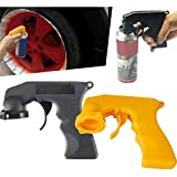 Can Spray Handle,Pack of 2 Can Spray Tool Aerosol Spray Handle with Full Grip Trigger for Painting (Black+Yellow)