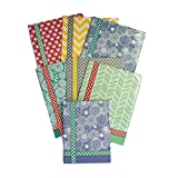 Colorful Pattern Design Belle School Supply Bundle: 7 Items: Seven Assorted Belle School Subject Folders, Plus One Matching Hardcover College Ruled Composition Notebook (Purple Notebook)
