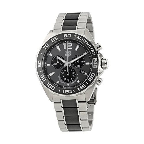 TAG Heuer Men's 'Formula 1' Swiss Quartz Stainless Steel Dress Watch, Color:Silver-Toned (Model: CAZ1011.BA0843) (Formula Watch 1 Quartz)