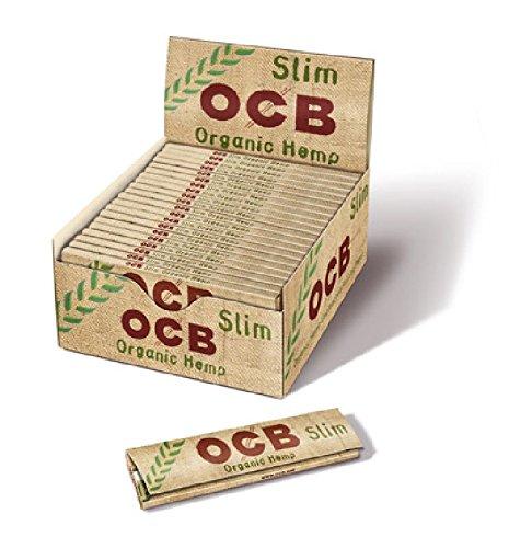 OCB 1009 Organic Hemp Slim Unbleached Rolling Papers Multicoloured