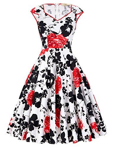 midi 50s style dress - 1