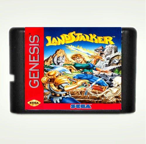 Taka Co 16 Bit Sega MD Game Landstalker 16 bit MD Game Card For Sega Mega Drive For Genesis