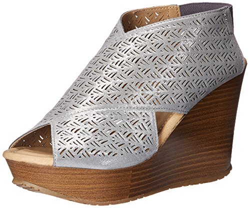 2 Womens Wedge Safe Sole Pewter REACTION Sandal Cole Kenneth 7qwOXF