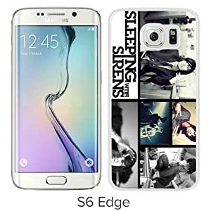 Host Sale Samsung Galaxy S6 Edge Case ,Fashion And Durable Designed With Sleeping With Sirens White Samsung Galaxy S6 Edge Cover