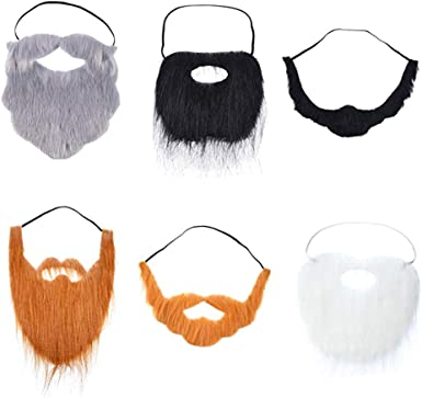 WORLD BOOK DAY White Kids or Adults Elastic Pirate Beard Facial Hair Moustache