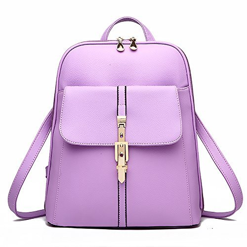 Womens-Backpack-Pu-Leather-Lightweight-Casual-Daypack-Fashion-Girls-Bag