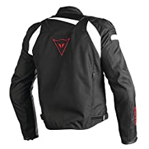 Dainese Veloster Textile Mens Motorcycle Jacket Black/White/Red 54 Euro/44 USA