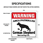 Alaskan Malamute Security Sign Area Patrolled pet Warning Veterinary Assistant 7