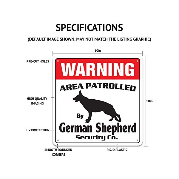 Alaskan Malamute Security Sign Area Patrolled pet Warning Veterinary Assistant 2