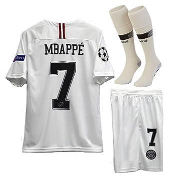 5f8927b0 haobeibei Paris Saint Germain X Away #7 MBAPPE 2018-2019 Kids/Youths Soccer