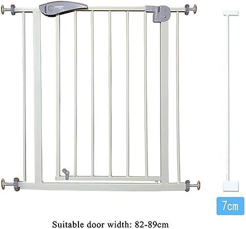 LIZIWL Barreras para Puertas y escaleras Seguridad Puerta Corte Libre Escalera Valla 76cm Alto Gris Usado for aislar bebé Animales (Size : 82-89CM): Amazon.es: Hogar