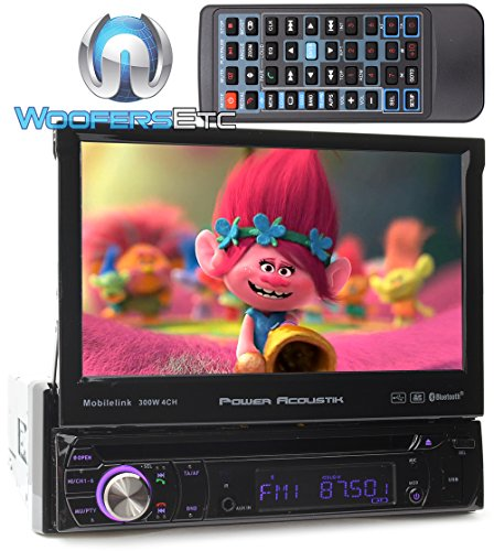 Power Acoustik PD-724HB 7 in. Single-DIN In-Dash DVD Receiver with Bluetooth in Black