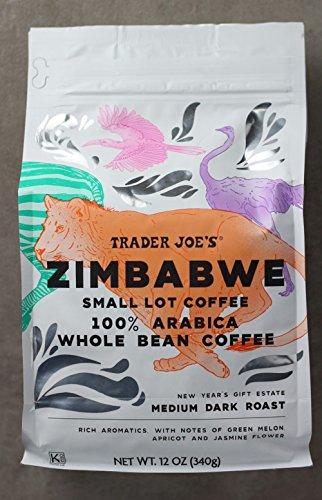 Trader Joe's Zimbabwe Small Lot Coffee 100% Arabica Whole Bean Medium Dark Roast
