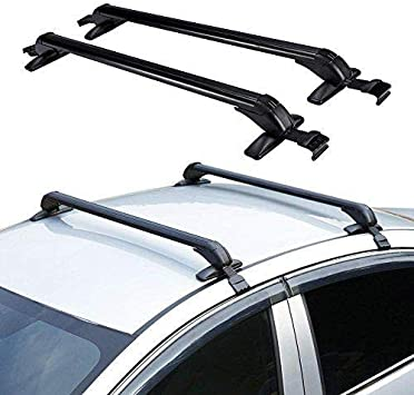 Amazon Com Onepack Car Crossbars Roof Luggage Racks For 4 Or 5 Door Cars Car Top Luggage Roof Rack Cross Bars Carrier Adjustable Window Frame 100cm Roof Rack Automotive