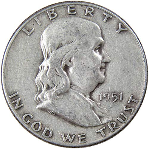 1951 50c Franklin Silver Half Dollar VF Very Fine ()