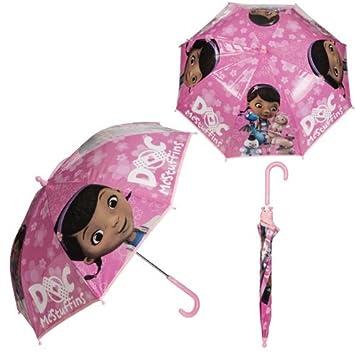 Doc McStuffins burbuja paraguas infantil niñas paraguas lluvia escuela regalo viento nuevo