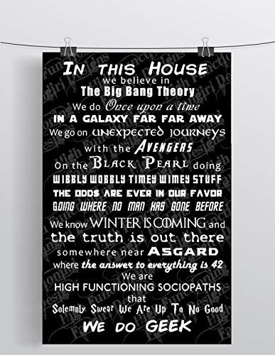 High Functioning Fangirl Designs in This House We Do Geek - Inspired - 11