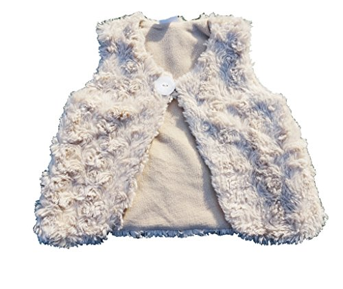 Baby Girls Cardigan Vest Lovely Rose Cashmere Suitable in Autumn Spring (0-6mths/66cm, Coffee)