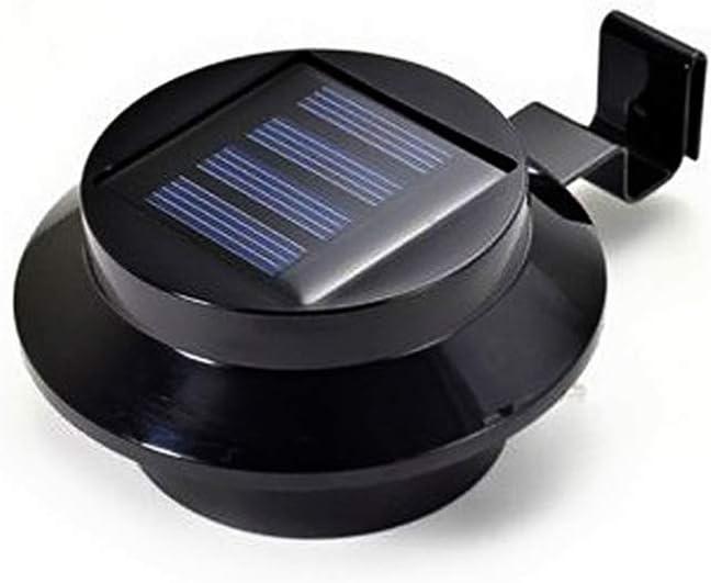 Uonlytech 4PCS Solar Gutter Lights Waterproof Outdoor Fence Light Solar Security Light for Patio Garden