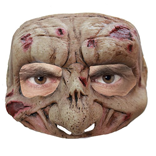 Zombie Latex Half Mask - With Motif (Zombie Cartoon Characters)